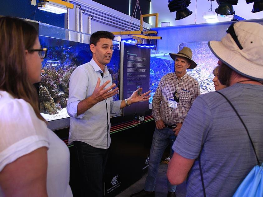 Craig Humphreys leading a tour of the National Sea Simulator