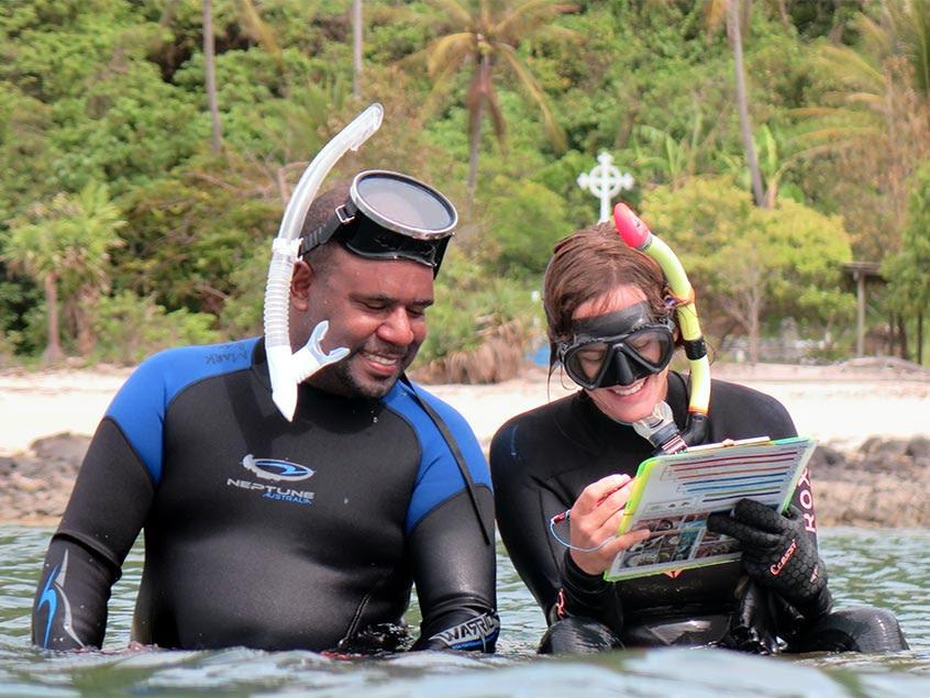 Coral monitoring on Erub Island